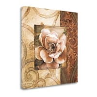 Linen Roses II By Linda Thompson,  Gallery Wrap Canvas