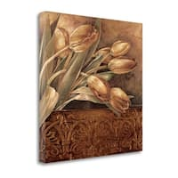 Copper Tulips II By Linda Thompson,  Gallery Wrap Canvas