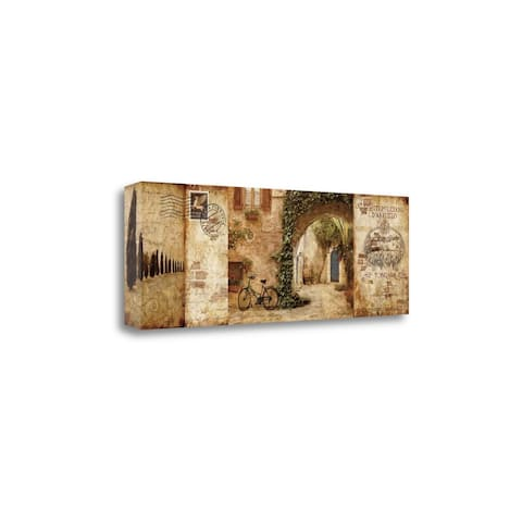 Tuscan Courtyard by Keith Mallett, Gallery Wrap Canvas