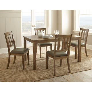 Greyson Living Avondale Brown Wood and Faux Leather Casual Dining Set