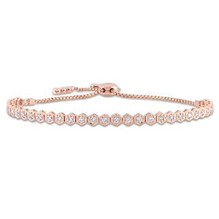 Miadora Signature Collection 14k Rose Gold 3/4ct TDW Diamond Adjustable Bolo Bracelet|https://ak1.ostkcdn.com/images/products/17794816/P23990278.jpg?impolicy=medium