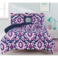 Calabria Damask 4-piece Comforter Set with Decorative Pillow
