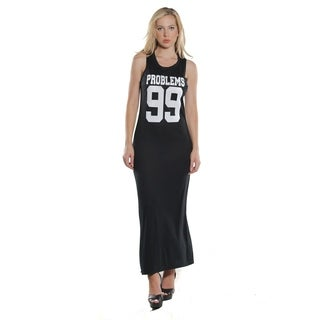Ladies Stretch Fitted Tank Maxi Dress (More options available)