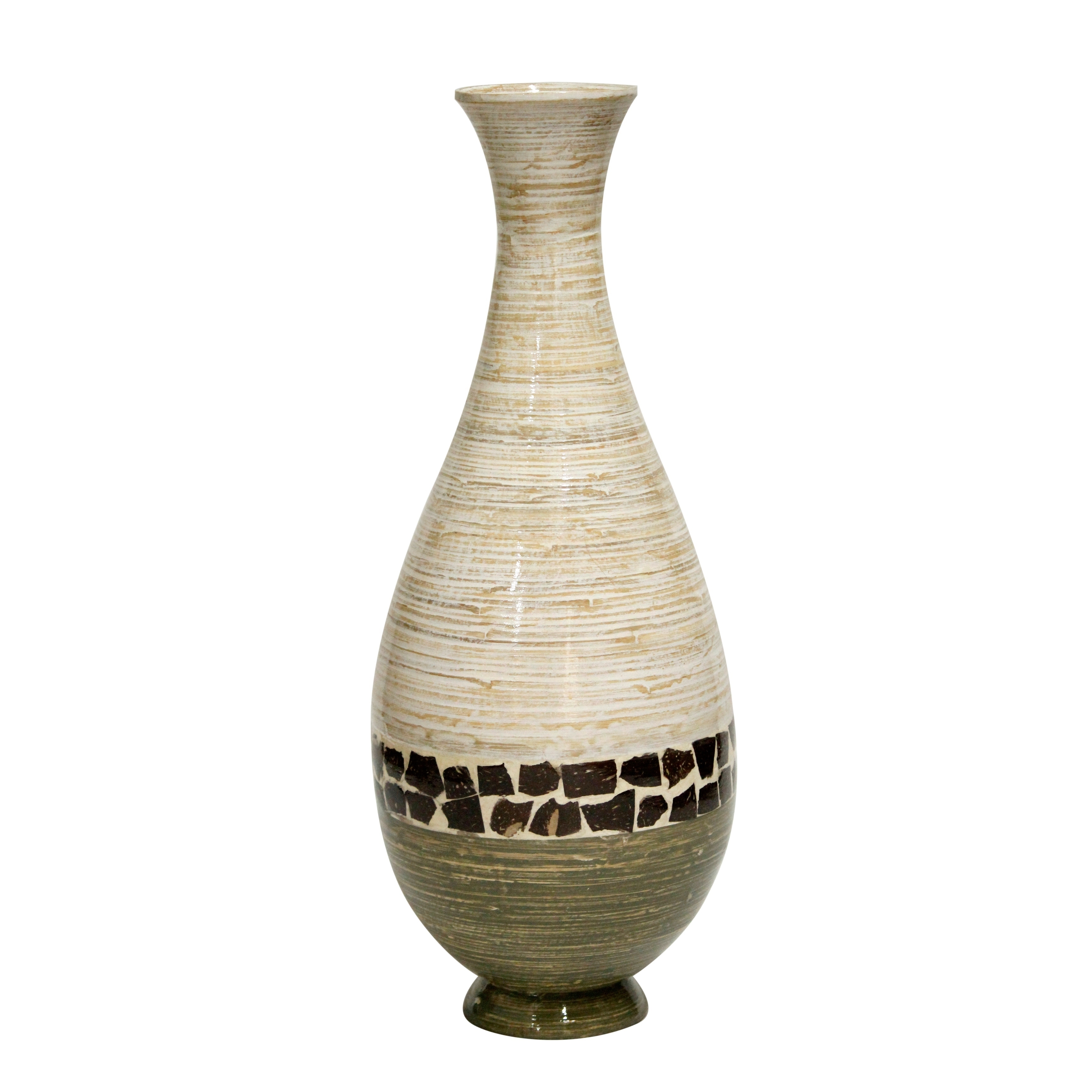 Buy Green Vases Online at Overstock.com | Our Best Decorative ... on pottery lids, vases from india, vases with ornaments in it, vases with bottles, vases with top sealer, vases worth money, vases with liners, vases with caps, vases in bulk, vases with handles, vases with corks,