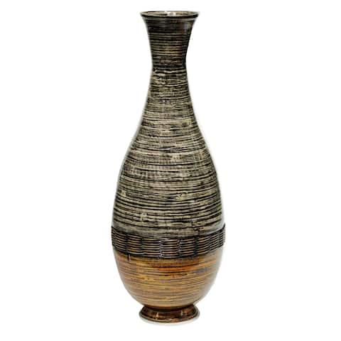 Heather Ann Creations Lila 27 Spun Bamboo Floor Vase