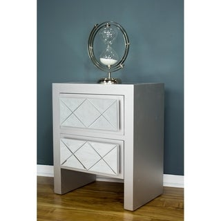 Heather Ann Creations Kayla 2 Drawer Accent Cabinets (Option: Silver - Chrome Finish)