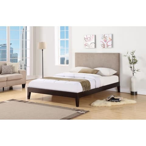 Berkley Espresso with Taupe Headboard Bed
