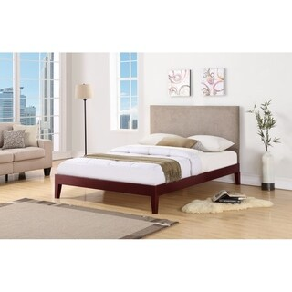 Berkley Cherry with Taupe Headboard Bed