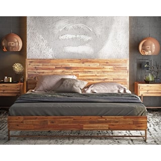 bushwick wooden king bed