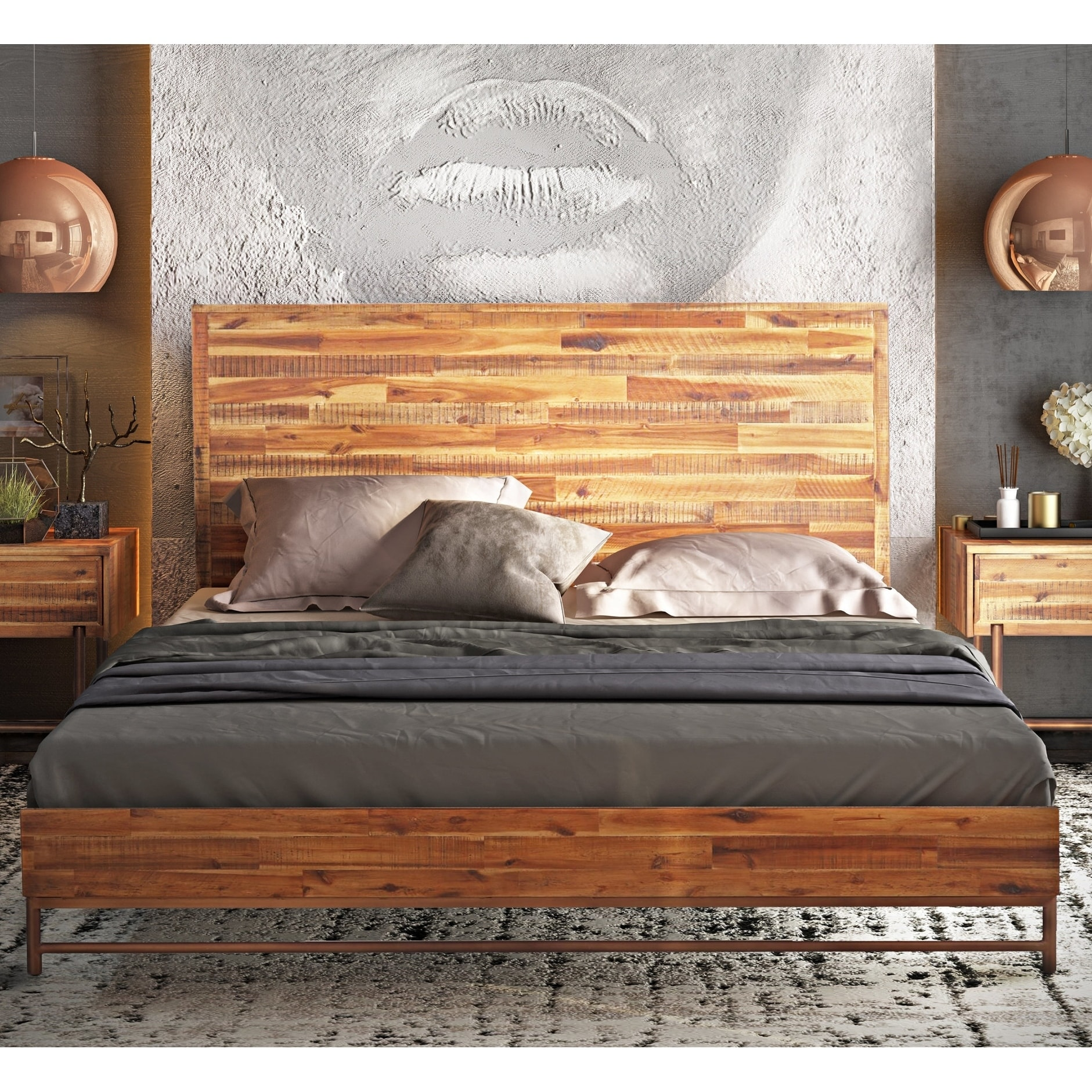 Bushwick Wooden Queen Bed - Free Shipping On Orders Over $45 ...