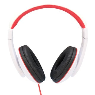 GamesterGear Over the Ear Red and Black Stereo Wired Headphone with In-Line Microphone