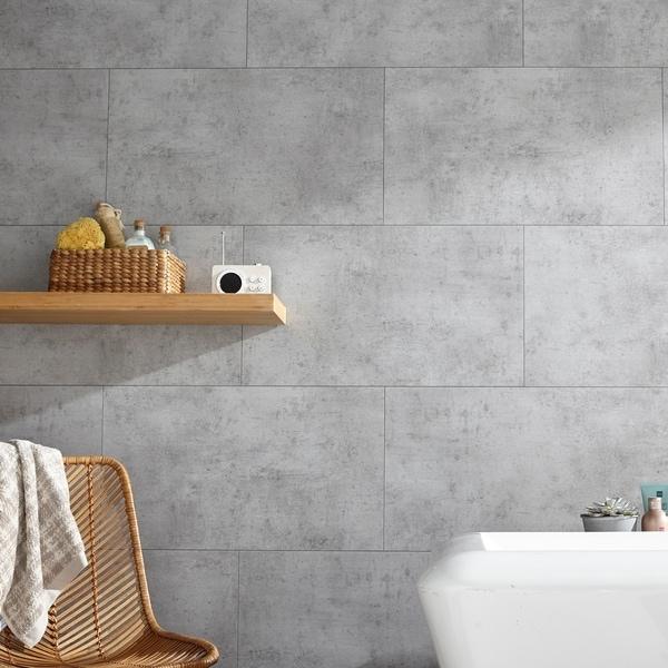 Vinyl Interlocking Waterproof Frost Nickel Wall Tile/