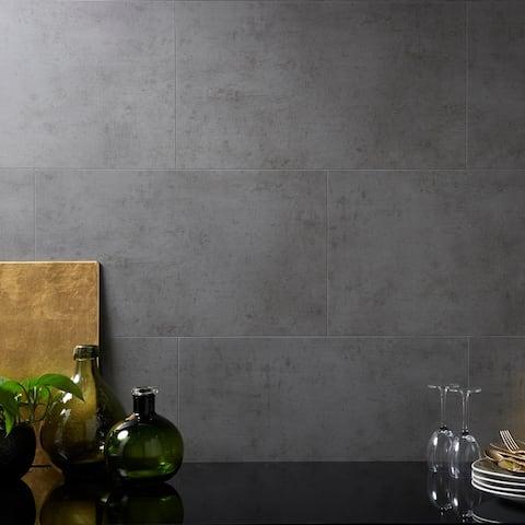 Dumawall 14.76 in. x 25.59 in. Vinyl Interlocking Waterproof Steel Wool Wall Tile/Backsplash (8 Pack)