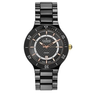 Charmex Men's San Remo Black Ceramic Watch