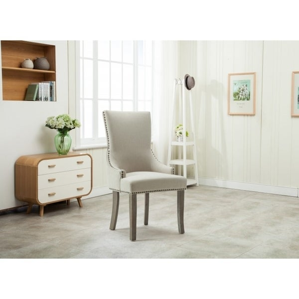 Shop Best Quality Furniture Beige Upholstered Dining Side