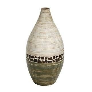 "Heather Ann Creations Shiloh 20"" Spun Bamboo Floor Vase"