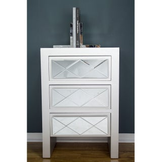 Heather Ann Creations Kayla 3 Drawer Accent Cabinets (Option: Silver - Chrome Finish)