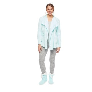 Ultrasoft Plush Lounge Cardigan with Boots