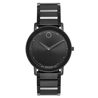 Link to Movado Men's 0606882 'Sapphire' Black Stainless Steel Watch Similar Items in Men's Watches