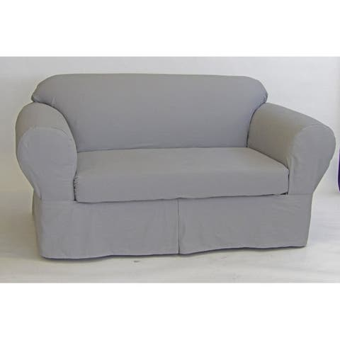 Classic Slipcovers Ten Ounce Cotton Twill Two Piece Loveseat Slipcover