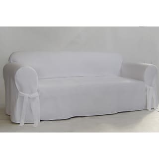 Twill One Piece Sofa Slipcover
