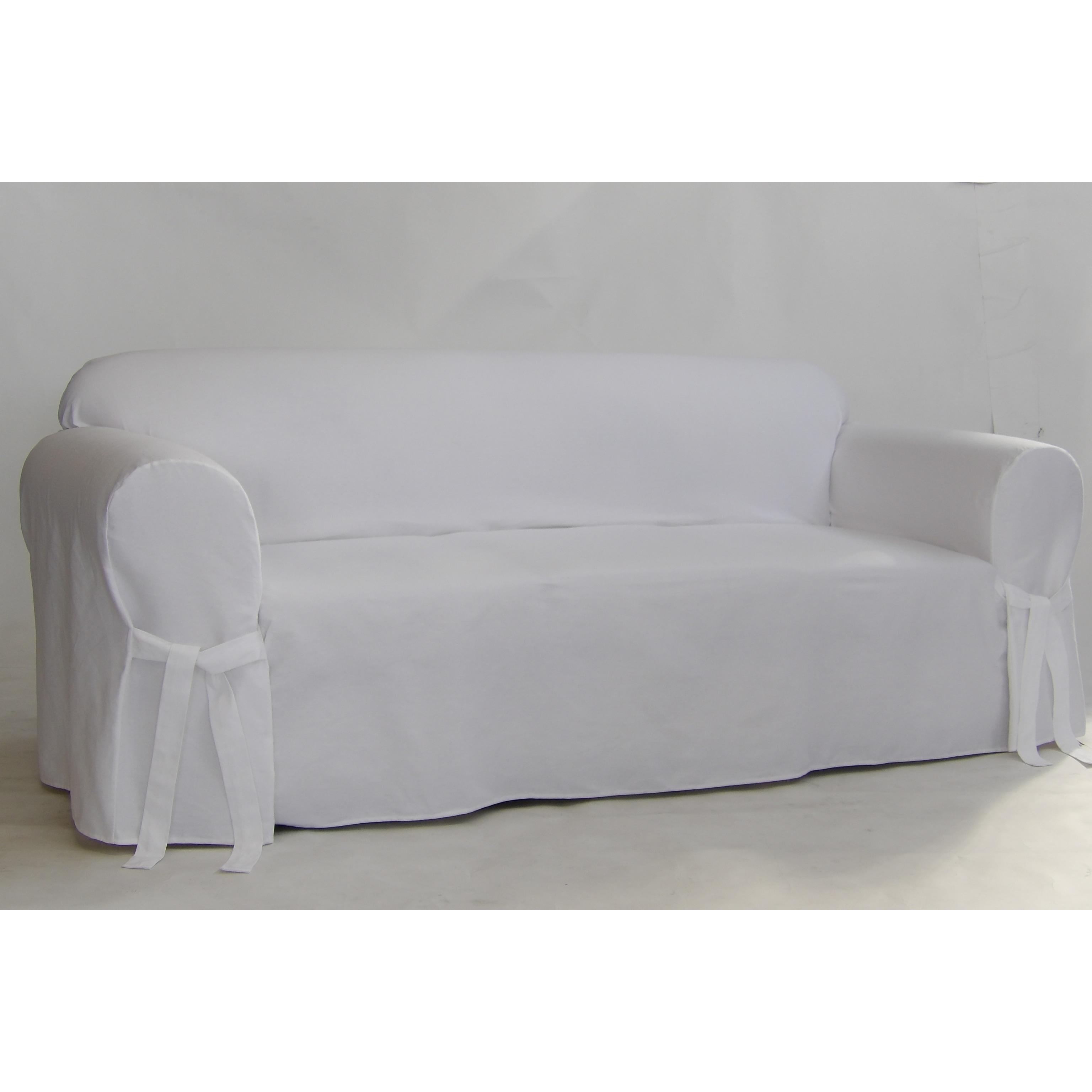 Slipcovers White Twill Sofa Slipcover