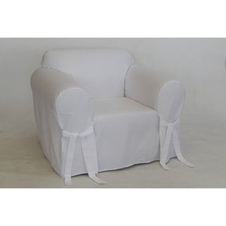 twill one piece chair slipcover