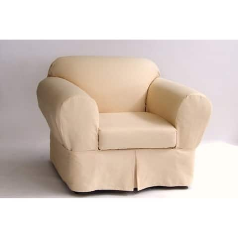 Classic Slipcovers Ten Ounce Cotton Twill Two Piece Chair Slipcover