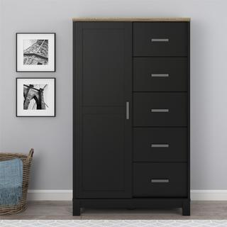 Clay Alder Home Throgs Black/Grey Finish Chest