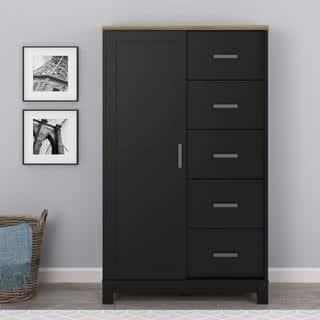 black bedroom dresser. Avenue Greene Commerce Black Grey Finish Gentleman s Chest  Option Dressers Chests For Less Overstock com