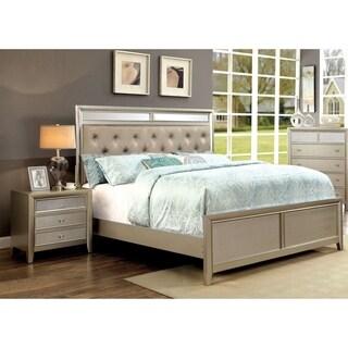 Furniture of America Vosh Contemporary Silver 2-piece Bedroom Set
