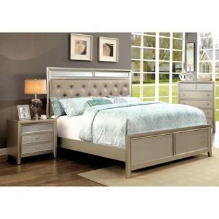 Furniture of America Vosh Contemporary Silver 3-piece Bedroom Set