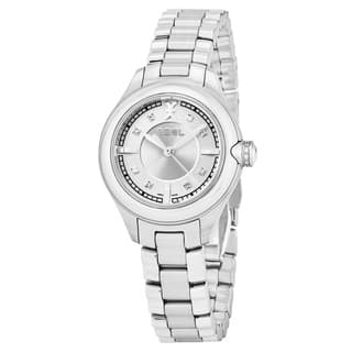 Ebel Women's 1216092 'Onde' Silver Diamond Dial Stainless Steel Swiss Quartz Watch|https://ak1.ostkcdn.com/images/products/17797476/P23992650.jpg?impolicy=medium