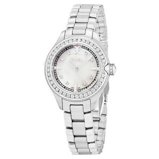 Ebel Women's 1216096 'Onde' Mother of Pearl Dial Stainless Steel Diamond Swiss Quartz Watch