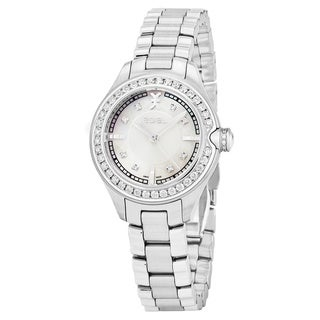 Ebel Women's 1216096 'Onde' Mother of Pearl Dial Stainless Steel Diamond Swiss Quartz Watch