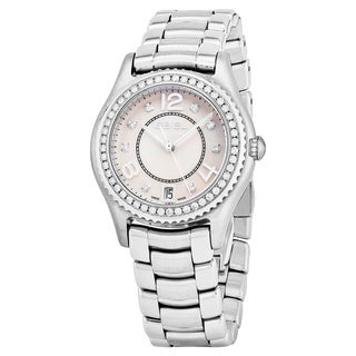Ebel Women's 1216110 'Ebel X-1' Mother of Pearl Dial Stainless Steel Diamond Swiss Quartz Watch