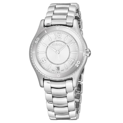 Ebel Women's 1216103 'Ebel X-1' Silver Dial Stainless Steel Swiss Quartz Watch