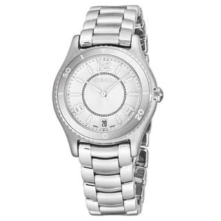 Ebel Women's 1216103 'Ebel X-1' Silver Dial Stainless Steel Swiss Quartz Watch|https://ak1.ostkcdn.com/images/products/17797506/P23992653.jpg?impolicy=medium