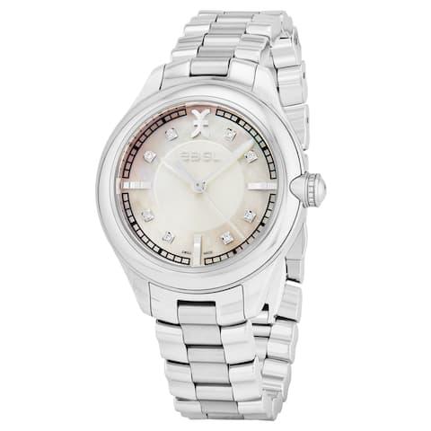 Ebel Women's 1216136 'Onde' Mother of Pearl Dial Stainless Steel Swiss Quartz Watch
