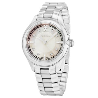 Ebel Women's 1216136 'Onde' Mother of Pearl Dial Stainless Steel Swiss Quartz Watch