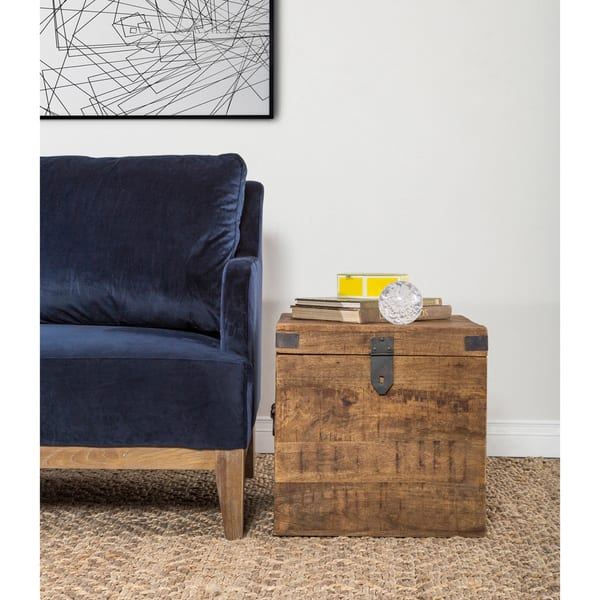 Stupendous Shop Livingston Solid Wood Square Cube By Kosas Home On Squirreltailoven Fun Painted Chair Ideas Images Squirreltailovenorg
