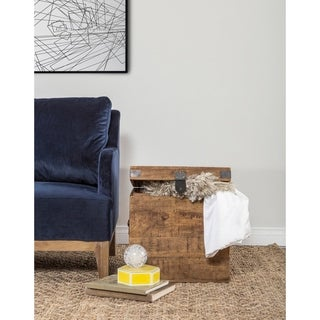 Livingston Solid Wood Square Cube by Kosas Home