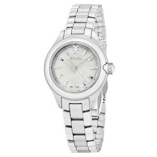 Ebel Women's 1216173 'Onde' Mother of Pearl Dial Stainless Steel Swiss Quartz Watch