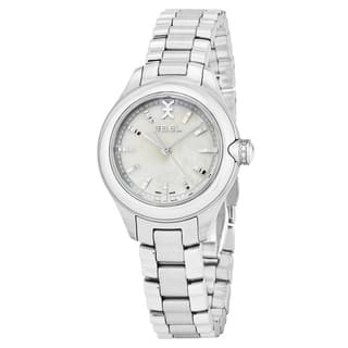 Ebel Women's 1216173 'Onde' Mother of Pearl Dial Stainless Steel Swiss Quartz Watch|https://ak1.ostkcdn.com/images/products/17797510/P23992663.jpg?impolicy=medium