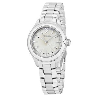 Ebel Women's 1216173 'Onde' Mother of Pearl Dial Stainless Steel Swiss Quartz Watch
