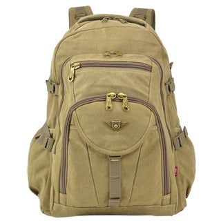 Dasein Sport Outdoor Vintage Canvas Adventure Backpack