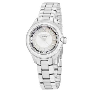 Ebel Women's 1216155 'Onde' Mother of Pearl Diamond Dial Stainless Steel Swiss Automatic Watch|https://ak1.ostkcdn.com/images/products/17797514/P23992654.jpg?_ostk_perf_=percv&impolicy=medium
