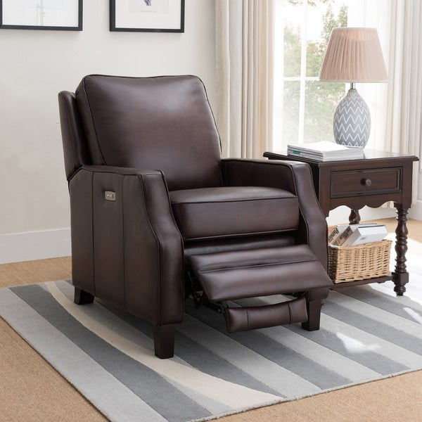 Cary Brown Premium Top Grain Leather Power Recliner Chair