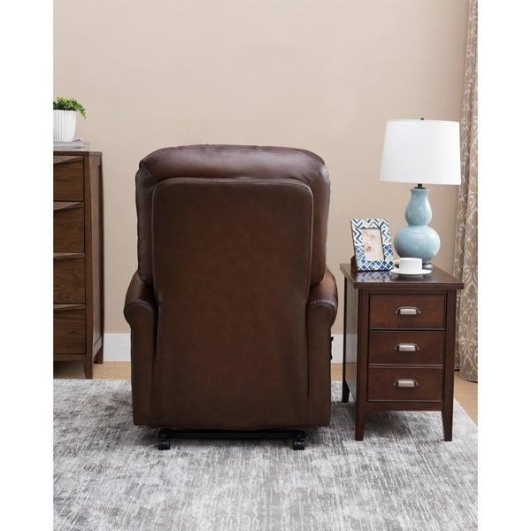 Winston Brown Tufted Premium Top Grain Leather Power Lift Recliner Chair - Free Shipping Today - Overstock.com - 23992666  sc 1 st  Overstock & Winston Brown Tufted Premium Top Grain Leather Power Lift Recliner ... islam-shia.org