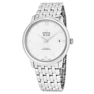 Omega Men's 424.10.37.20.02.001 'Deville Prestige' Silver Dial Stainless Steel Co-Axial Swiss Automatic Watch